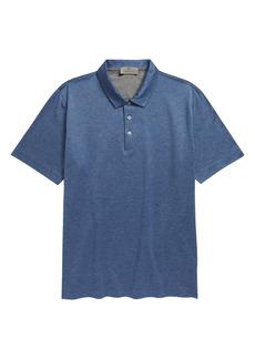 Canali Mélange Short Sleeve Polo