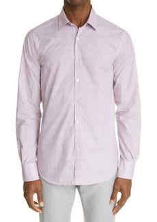 Canali Regular Fit Knit Button-Up Shirt