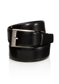 Canali Men's Shiny Smooth Leather Belt