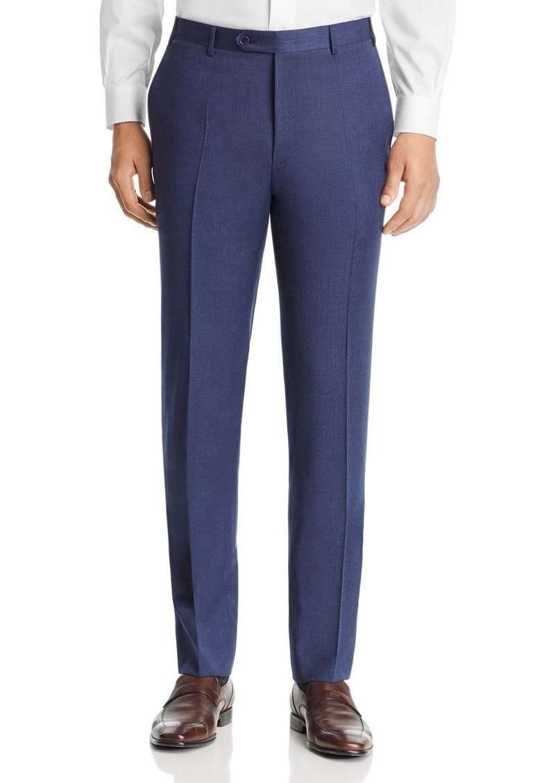 Canali Siena M�lange Twill Solid Classic Fit Dress Pants