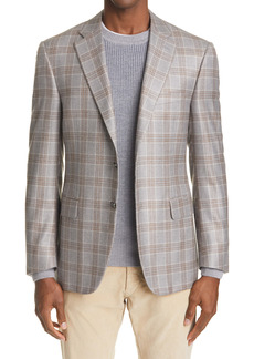 Canali Sienna Soft Classic Fit Plaid Sport Coat