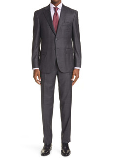 Canali Sienna Soft Classic Fit Plaid Wool Suit