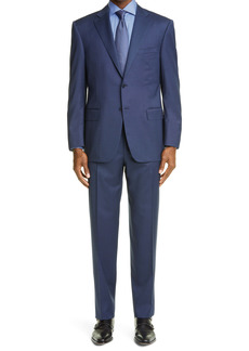 Canali Sienna Soft Classic Fit Stretch Check Wool Suit