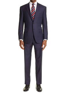 Canali Sienna Soft Jacquard Plaid Wool Suit