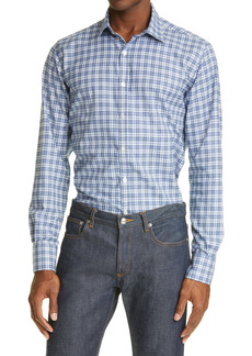 Canali Slim Fit Plaid Button-Up Shirt