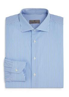 Canali Striped Regular Fit Dress Shirt