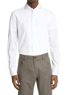 Canali Trim Fit Cotton Jersey Shirt