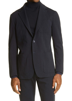 Canali Trim Fit Stretch Cotton Blend Sport Coat