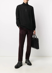 Canali corduroy straight-leg trousers