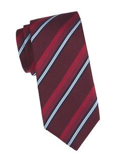 Canali Diagonal Stripe Silk Tie