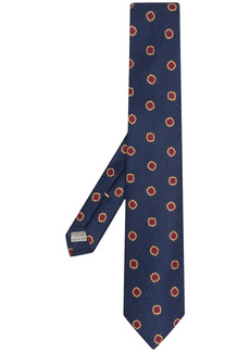 Canali knitted patterned tie