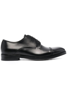 Canali leather derby shoes