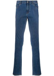 Canali logo rise skinny jeans