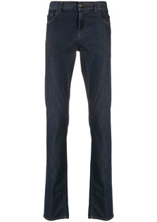 Canali low rise slim-fit jeans