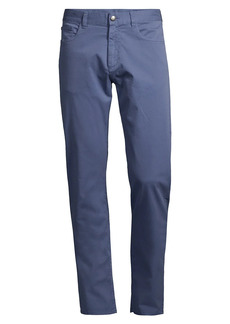 Canali Microtwill Regular-Fit Comfort Stretch Jeans