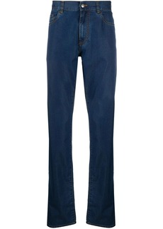 Canali mid rise straight-leg jeans
