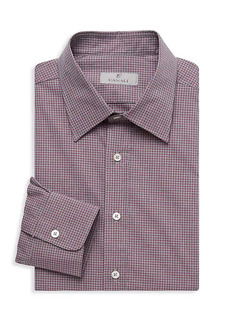 Canali Modern-Fit Checked Dress Shirt