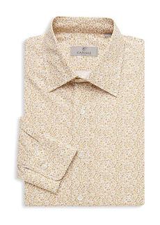 Canali Modern-Fit Floral-Print Dress Shirt