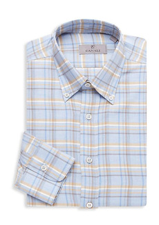Canali Modern-Fit Plaid Dress Shirt