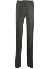 Canali plaid print trousers
