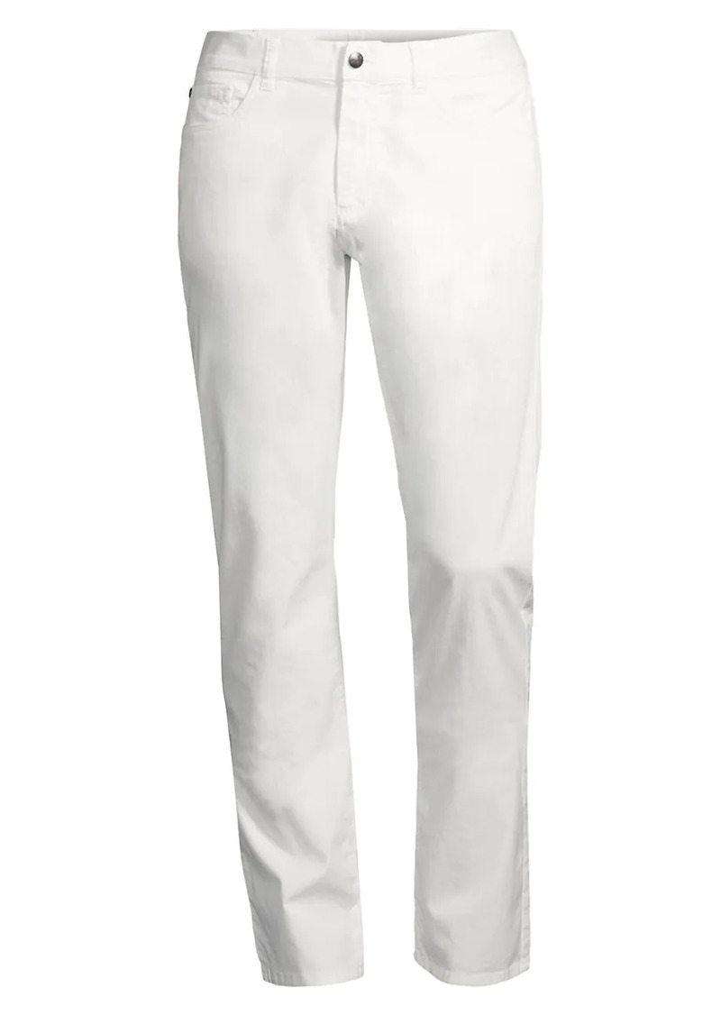 Canali Regular-Fit Micro Twill Comfort Stretch Pants