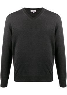 Canali V-neck knitted jumper