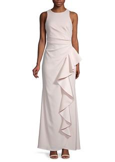 Carmen Marc Valvo Ruffle Front Gown