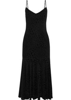 Caroline Constas Woman Kai Metallic Leopard-print Fil Coupé Stretch-jersey Midi Dress Black