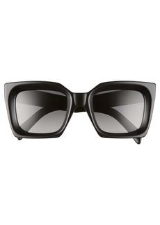 CELINE 51mm Polarized Square Sunglasses