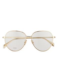 CELINE 57mm Round Eyeglasses