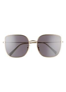CELINE 59mm Flat Front Butterfly Sunglasses