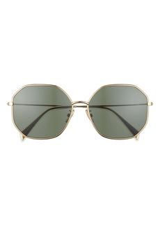 CELINE 60mm Geometric Sunglasses