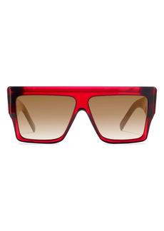 CELINE 60mm Gradient Flat Top Sunglasses