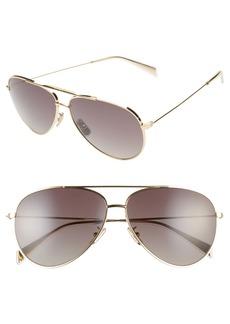 CELINE 61mm Polarized Aviator Sunglasses