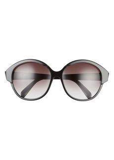 CELINE 61mm Gradient Round Sunglasses
