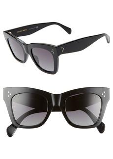 CELINE 50mm Polarized Square Sunglasses
