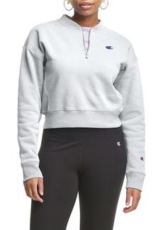 Champion Crop Reverse Weave® Quarter Zip Sweatshirt