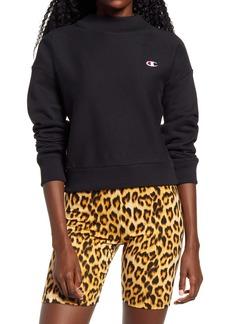 Champion Reverse Weave® Mock Neck Panel Crop Sweatshirt