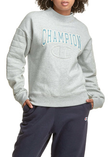 Champion Reverse Weave® Quilted Mock Neck Sweatshirt