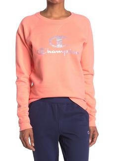 Champion Powerblend Logo Raglan Sweatshirt