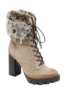 Charles David Gutsy Lace-Up Boot with Faux Fur Cuff