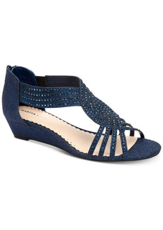 Charter Club Ginifur Wedge Sandals, Created for Macy's Women's Shoes