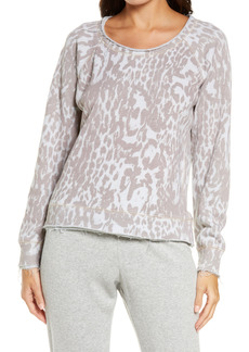 Chaser Animal Print Cotton & Linen French Terry Sweatshirt