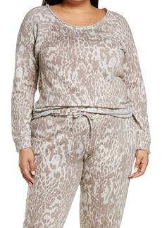 Chaser Animal Print Cotton & Linen Sweatshirt (Plus Size)