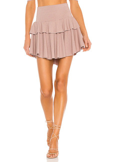 Chaser Cozy Rib Flouncy Tiered Mini Skirt