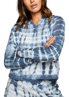 Chaser Lace Up Tie Dye Fleece Hoodie