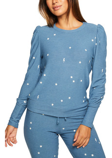 Chaser Puff Shoulder Cozy Knit Sweatshirt
