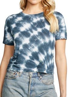 Chaser Tie Dye Linen Crop T-Shirt