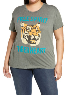 Chaser Tiger Heart Graphic Tee (Plus Size)