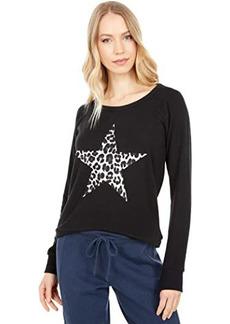 Chaser Leopard Star Bliss Knit Sweatshirt